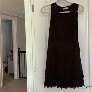Black suede Altar'd State dress